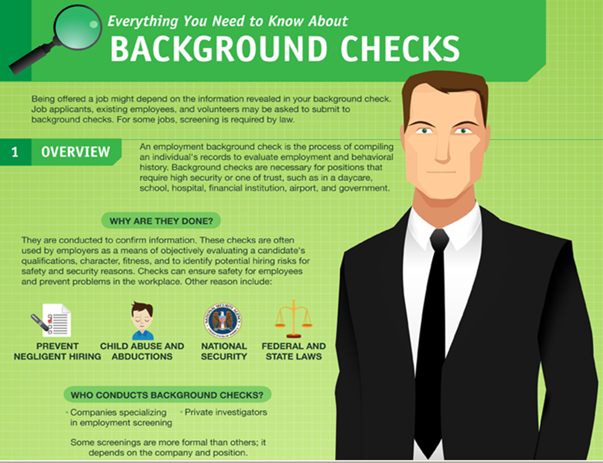 What are some employers that do not require a background check?